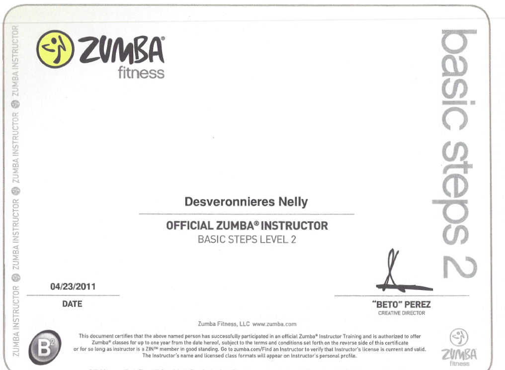 Instructeur Zumba